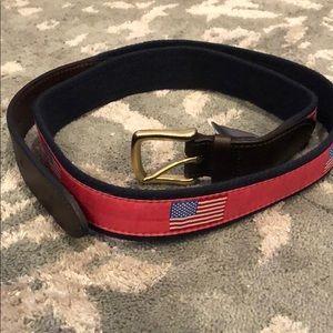 VINEYARD VINES American Flag Belt